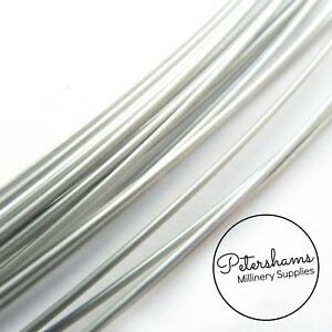 Sprung Silver Millinery Wire for Brims & Hat Making 0.9mm -1m
