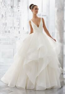 Mori Lee 5577 Size 10 GENUINE Wedding Dress  Ivory New With tags