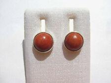 Schaumkoralle Ohrstecker Coral earrings 11 mm 925 Silber E7418