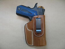 """Wilson Compact 1911 4"""" IWB Leather In Waistband Concealed Carry Holster TAN RH"""
