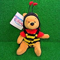 "NEW Disney Mini Bean Bag VALENTINE'S POOH Bear 8"" Winnie The Pooh Plush Toy MWMT"