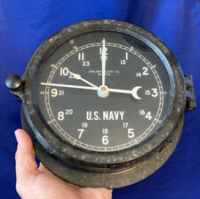 Us Navy Chelsea Patriot Deck Clock Co Boston 6�