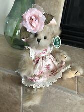 "Bearington Bears AUGUSTA #1560 2005 10"" Plush🐻 Pink Floral Dress MWT 🌸🌺"