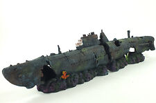 Large Fish Tank Aquarium Submarine Uboat Sunken Wreck Ornament Decoration #2628B