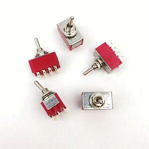 5 pcs ON//ON MTS-402 4PDT 2 Way 12 Pin Mini Toggle Switch 2A 250V 5A 120V