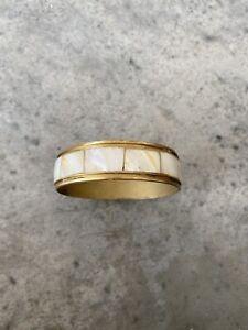 Brass Mother Of Pearl Bangle Bracelet Jewelry