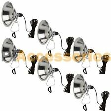 "6 Pcs Heavy Duty 8-1/2"" Aluminum Reflector Shade Clamp on Work Light Lamp ETL"
