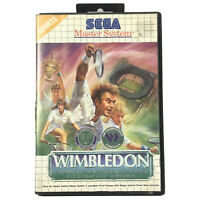 WIMBLEDON Tennis Sega Master System Game In Case Complete With Manual VGC