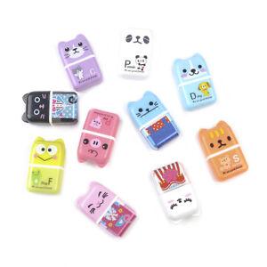 Cute Roller Animal Rubber Pencil Eraser Set Stationery Novelty Children New