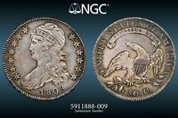1808 Capped Bust Half Dollar O-106/a NGC AU Details (Cleaned/Retoned)