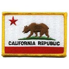 CALIFORNIA STATE FLAG FULL COLOR sew on high quality EMBROIDERY EMBLEM-Patch GIF