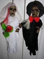 """halloween bride and groom skeletons 11"""" high"""