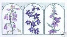 Botánico Floral Tríptico Flores Cross Stitch Kit