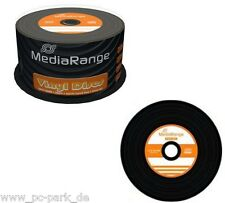 2x MR225] MediaRange 100 Rohling Vinyl Discs CD-R 80Min 700MB Schwarz Black Disc