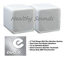 """E-audio blanc 4"""" gamme complète double cône mini boîte de haut-parleur (8 ohms 80 w) #B405A"""