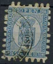 Finland 1866, 20p Blue/Blue Used #D96743