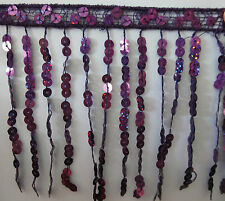 Sequin Tassel Fringe / Fringing Trim 14CM Drop **10 DIFFERENT COLOURS**  1 YARD