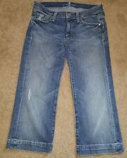 Women's 7 for all man kind capris 28 cropped pants