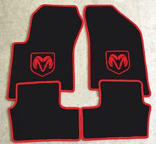 Autoteppich Fußmatten für Dodge Caliber schwarz rot rot Velours 4teilig Neuware