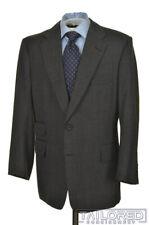 LEONARD LOGSDAIL Solid Gray Micro Dot 100% Wool Jacket Pants SUIT - BESPOKE 42 R