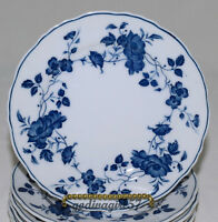 Fine China of Japan Royal Meissen * 4 BREAD & BUTTER PLATES * Blue White, EXC!