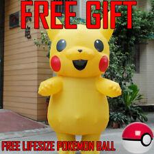 ♡US SHIP♡Inflatable Pokemon Go Kids Pikachu Cosplay Mascot Costume Halloween Kid