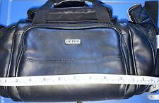 Hi-Pro Leather Camera Bag With Strap App. 14 x 7 x 6 Multiple Pockets Camcorder