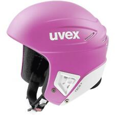 UVEX RACE + PLUS SKI SNOWBOARD RACING HELMET Pink White 51 - 52 cm FIS APPROVED
