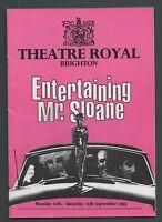 """Entertaining Mr Sloane"" Barbara Windsor Brighton Theatre programme 1993...fa 90"