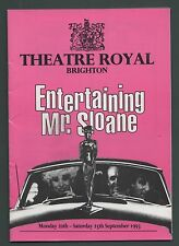 """Entertaining Mr Sloane"" Barbara Windsor Brighton Theatre programme 1993...fa 90"