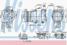 Nissens Compressor 89234 Fits VOLVO S40 2 01/04 - 01/12