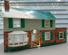Marx Tin Doll Mansion Subarban Colonial Vintage w/Extra Plastic house