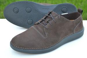 Clarks BNIB Mens Active Air Shoes HALE LACE Dark Brown Nubuck UK 9 / 43