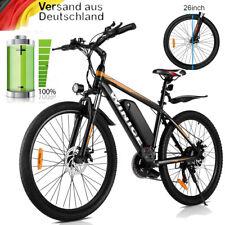 Elektrofahrrad 26Zoll E-bike Mountainbike 250W 36V/10.4Ah Pedelec Shimano Orange
