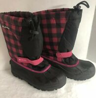 Columbia Boot Winter Snow Kids Girls Size 4 Waterproof Insulated Liner Pink