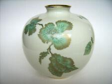 Porzellan Vase SMARAGD Carstens Sorau Germany Golddekor Handgemalt 16cm Art Deco
