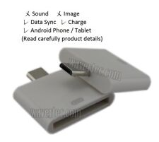 Apple 30 Pin Female to Micro USB Male Adapter Converter for Old Samsung FRY