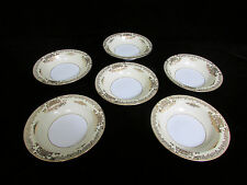 Noritake 7280 Mayfield Berry Bowl 6.75in Gold Yellow Set of 6 STUNNING