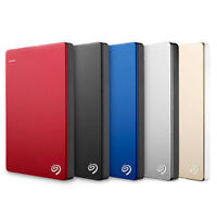 Seagate Backup Plus Slim 1TB USB 3.0 External Hard Drive Red Win PC / MAC