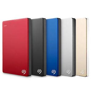 Seagate Backup Plus Slim 1TB USB 3.0 External Hard Drive Red Win PC / MAC