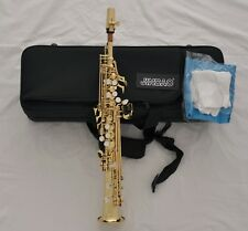 Professional Gold Sopranino Saxophone Eb Sax Low B to High F FREE Mouthpiece