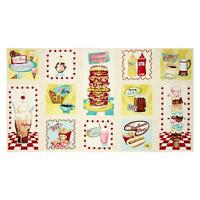 At the Diner Panel  Cotton Quilt Fabric Wilmington Fabrics  Food  BFab