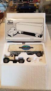 First Gear 1960 Model B-61 Mack Truck & Trailer-Adirondack Scenic Railroad 1/34