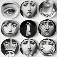"""6"""" Plate Cover Fornasetti Big Eyes Art With Lids Ceramic Decorative Wall Plates"""
