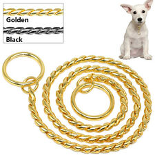 Dog Collar Chain Snake P Choke Chain Metal Training Dog Show Necklace M L XL