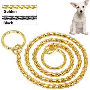 Dog Collar Chain Snake P Choke Chain Metal Training Dog Show Necklace M L XL