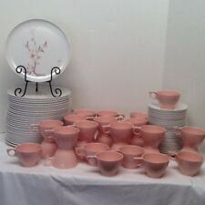 VINTAGE PINK Mid Century Bridal Shower MCM MELMAC MELAMINE 91 Pc SET PLATES CUPS