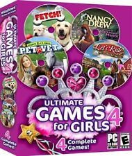 Ultimate Games for Girls 4 (PC, 2008)  Only 2 games: FETCH! PET VET,  NANCY DREW