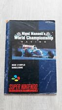 Notice jeu Nintendo super Nes originale nigel mansell s world championship snes