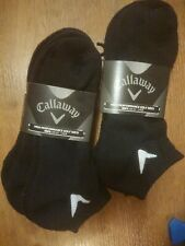 CALLAWAY MENS BLACK SPORT SERIES LO CUT GOLF ANKLE SOCKS / 3 PACK